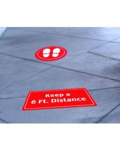 6' Distancing Floor Graphic