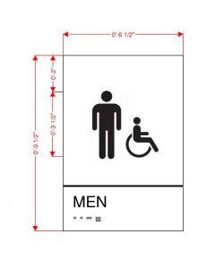 Men's Restroom Plaque