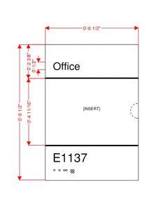 Office Insert Plaque