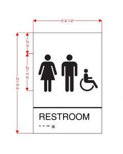 Unisex Restroom Plaque