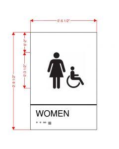 Women's Restroom Plaque